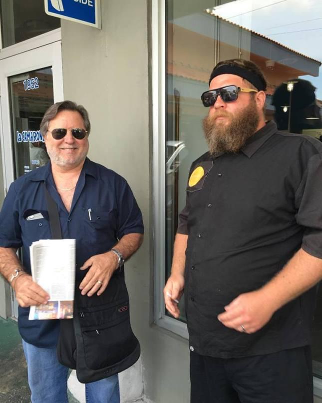 Chefs Norman Van Aken and Jeremiah Bullfrog